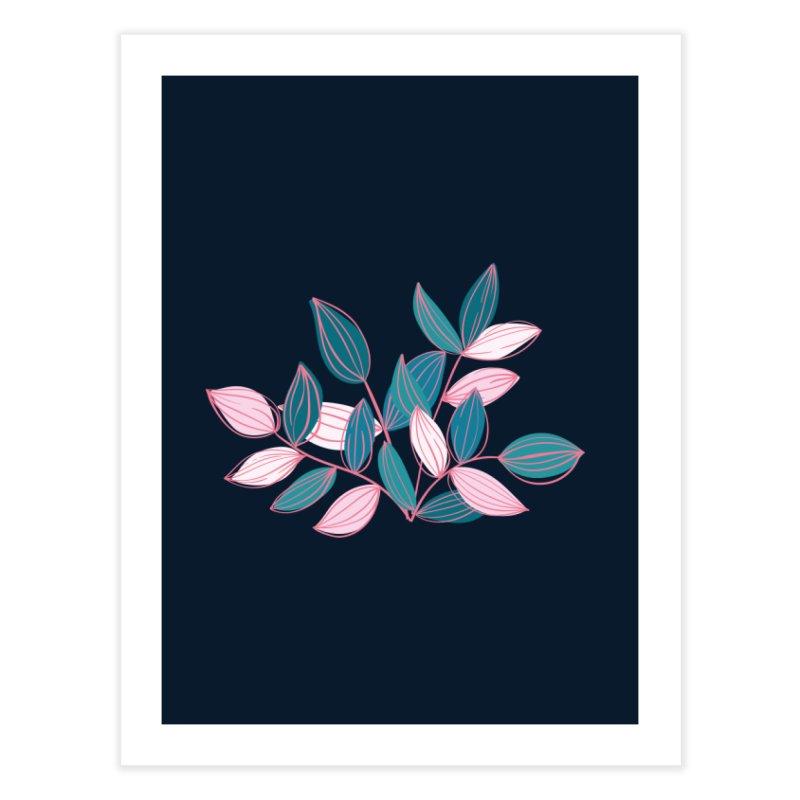 Leaf Lines Home Fine Art Print by Zoe Chapman Design