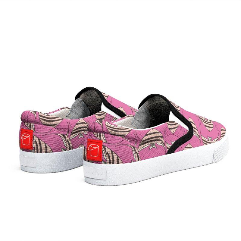 Pink Angel Fish Men's Shoes by Zoe Chapman Design