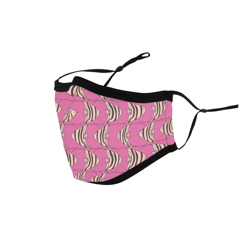 Pink Angel Fish Accessories Face Mask by Zoe Chapman Design