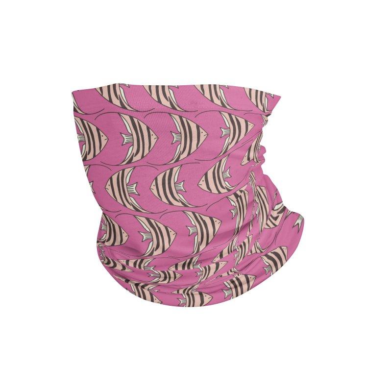Pink Angel Fish Accessories Neck Gaiter by Zoe Chapman Design