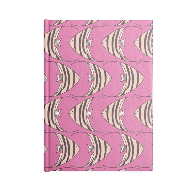 Pink Angel Fish Accessories Notebook by Zoe Chapman Design