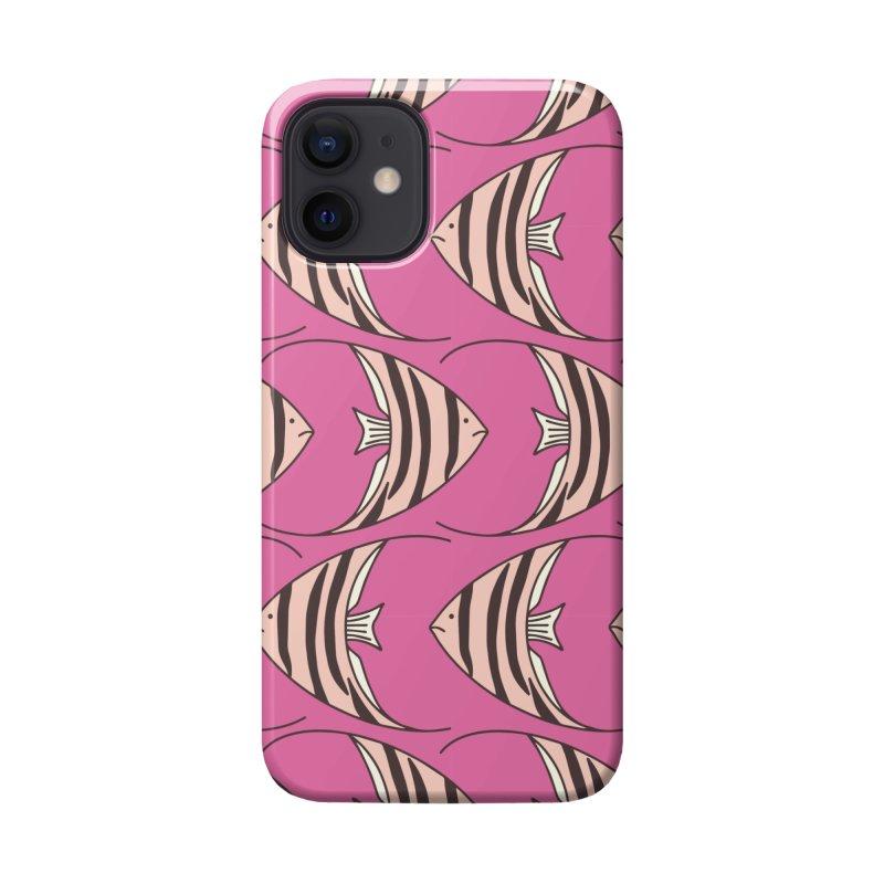 Pink Angel Fish Accessories Phone Case by Zoe Chapman Design