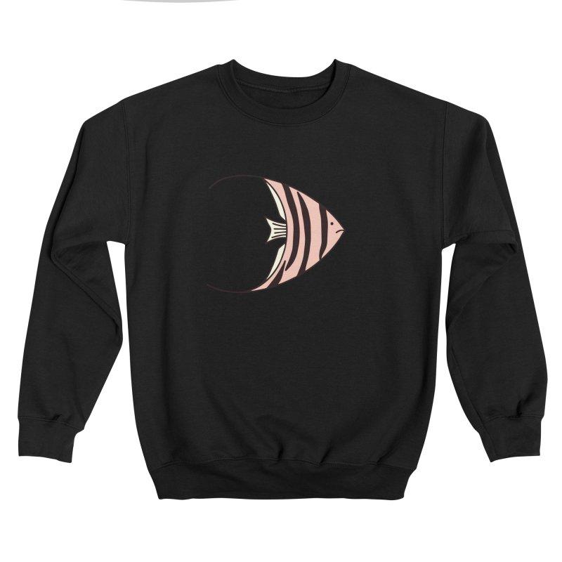 Pink Angel Fish Men's Sweatshirt by Zoe Chapman Design