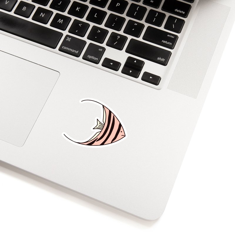 Pink Angel Fish Accessories Sticker by Zoe Chapman Design