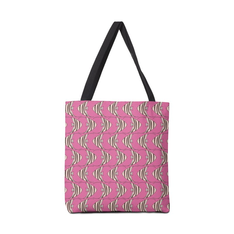 Pink Angel Fish Accessories Bag by Zoe Chapman Design
