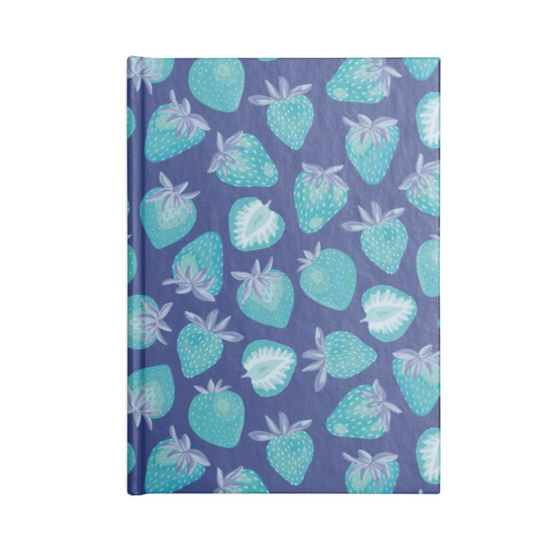 Blue Strawberry Accessories Notebook by Zoe Chapman Design