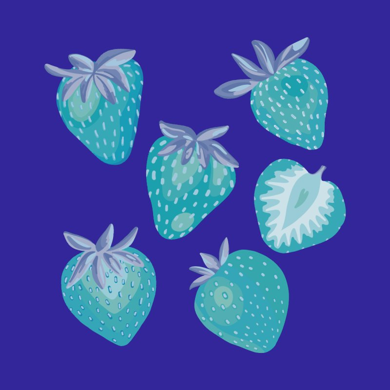 Blue Strawberry Accessories Beach Towel by Zoe Chapman Design