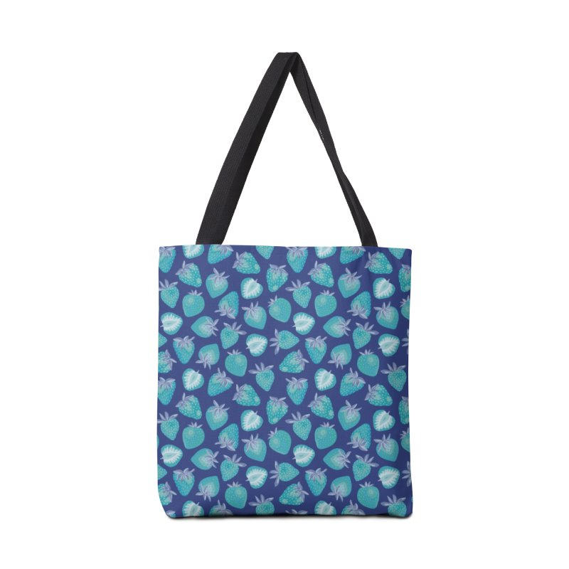 Blue Strawberry Accessories Bag by Zoe Chapman Design