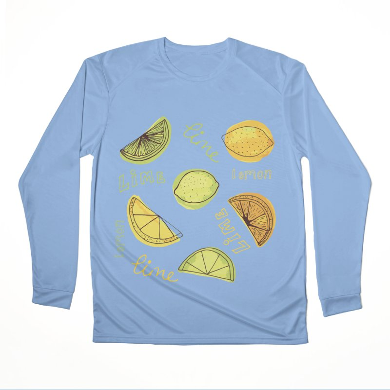 LEMON & LIME CITRUS BURST Men's Longsleeve T-Shirt by Zoe Chapman Design