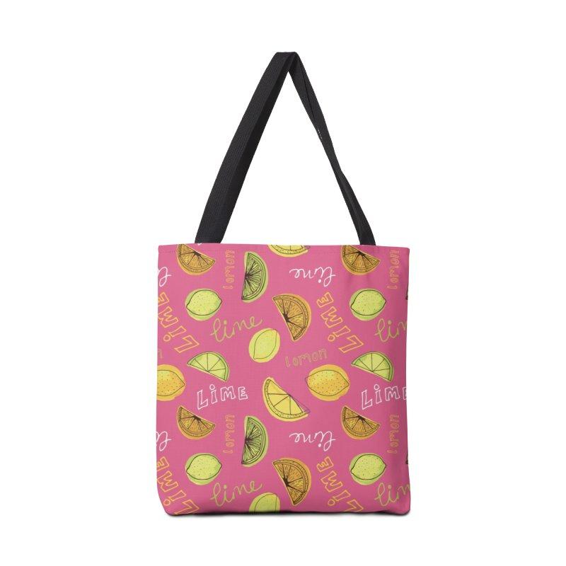 LEMON & LIME CITRUS BURST Accessories Bag by Zoe Chapman Design