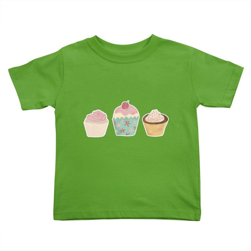 Cupcake Kids Toddler T-Shirt by Zoe Chapman Design