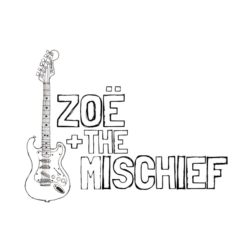 Zoë + The Mischief - Strat - Outlined Black Letters by Zoë + The Mischief Merchandise