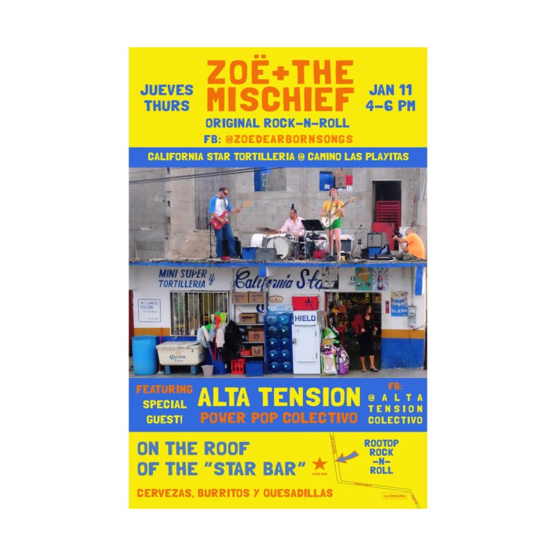 Zoë + The Mischief Poster at The Star Bar by Zoë + The Mischief Merchandise