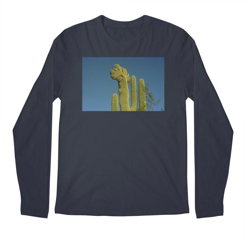 Cactus Man Men's Longsleeve T-Shirt by zoegleitsman's Artist Shop