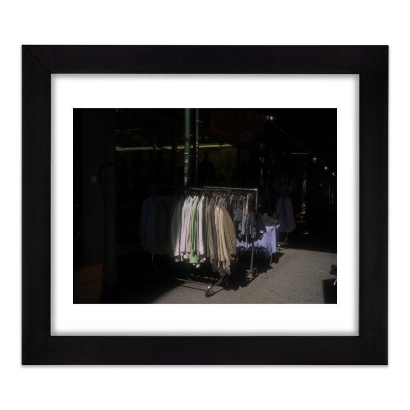 Coats for Sale on Orchard Street Home Framed Fine Art Print by zoegleitsman's Artist Shop