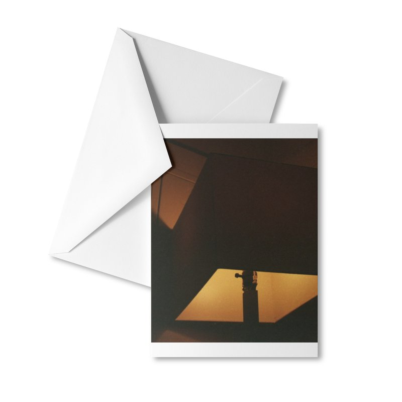 Square Lamp at Night Accessories Greeting Card by zoegleitsman's Artist Shop
