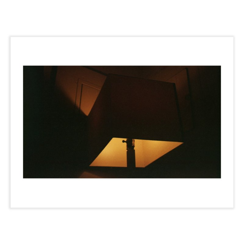 Square Lamp at Night Home Fine Art Print by zoegleitsman's Artist Shop