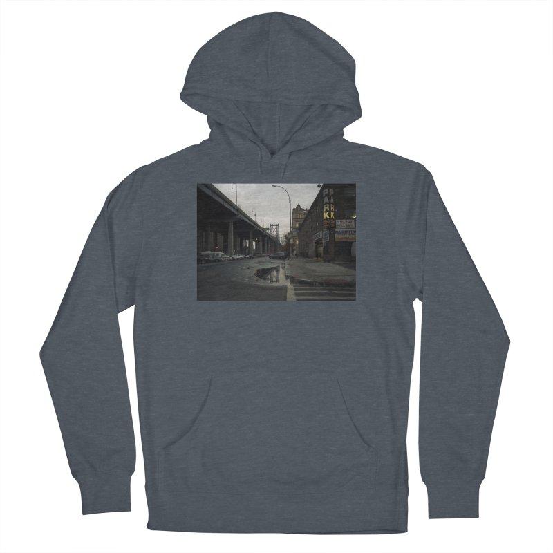 Williamsburg Bridge Reflected Men's Pullover Hoody by zoegleitsman's Artist Shop