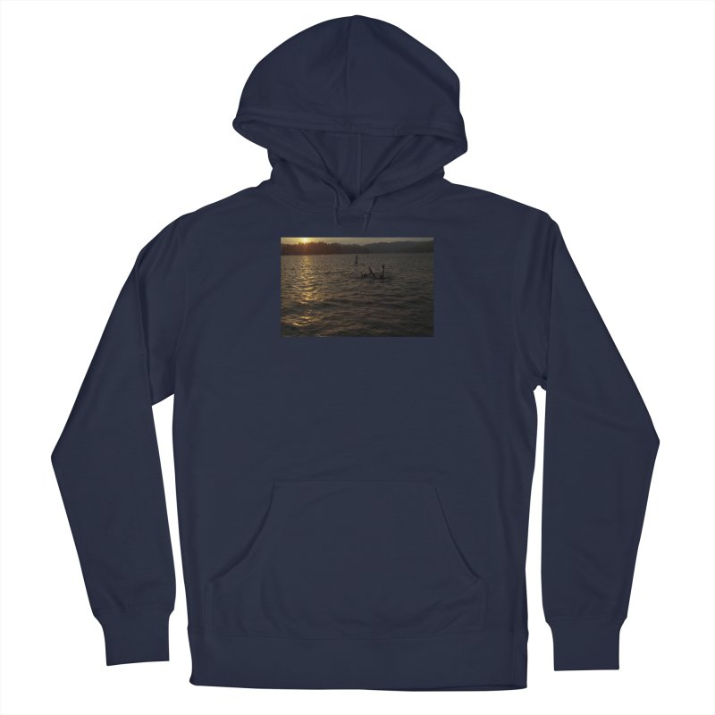 Sunset Swim Men's Pullover Hoody by zoegleitsman's Artist Shop