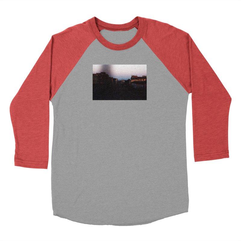 Sunset Over Tracks Men's Longsleeve T-Shirt by zoegleitsman's Artist Shop