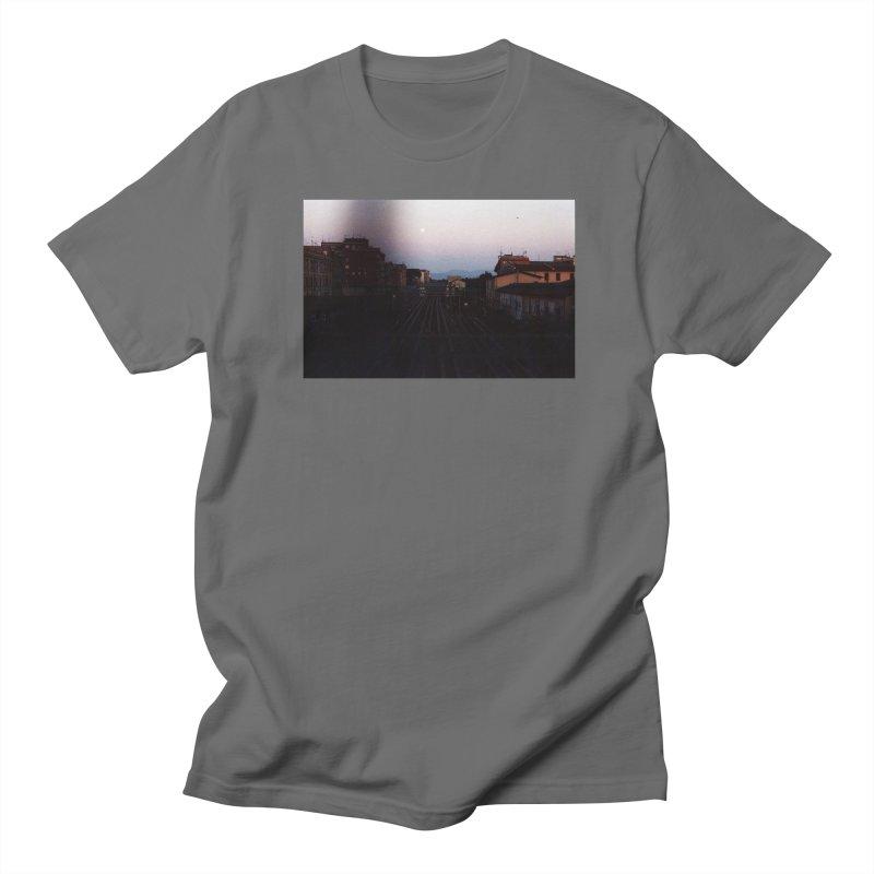 Sunset Over Tracks Men's T-Shirt by zoegleitsman's Artist Shop