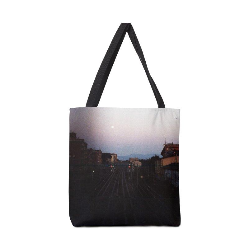 Sunset Over Tracks Accessories Bag by zoegleitsman's Artist Shop