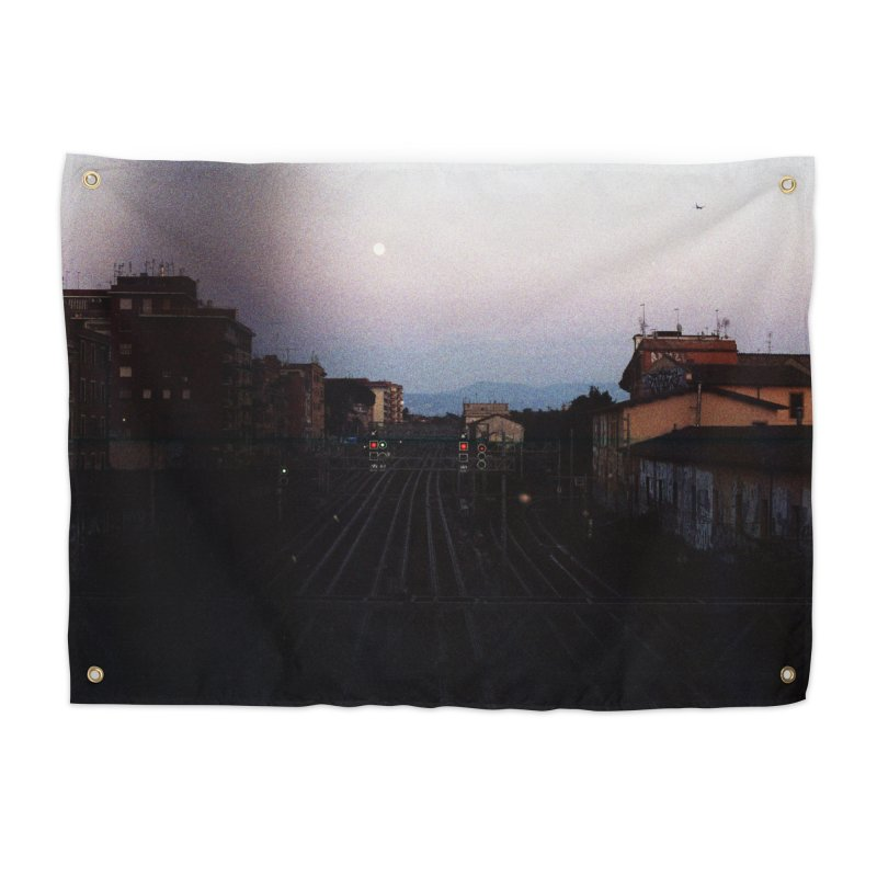 Sunset Over Tracks Home Tapestry by zoegleitsman's Artist Shop