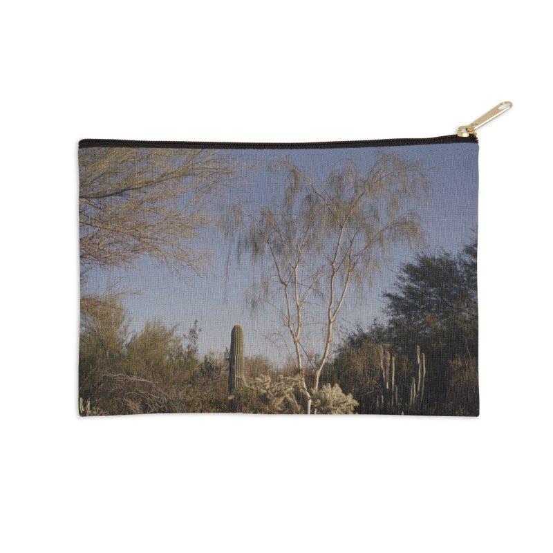 Desert Landscape Accessories Zip Pouch by zoegleitsman's Artist Shop