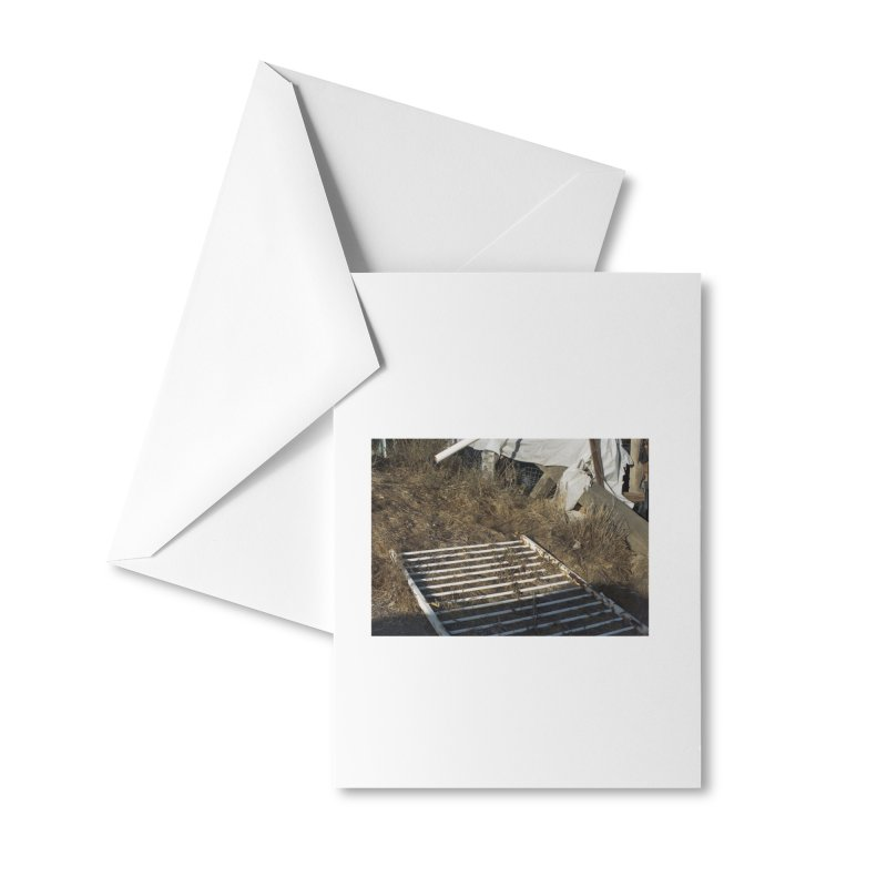 Discards in the Weeds Accessories Greeting Card by zoegleitsman's Artist Shop