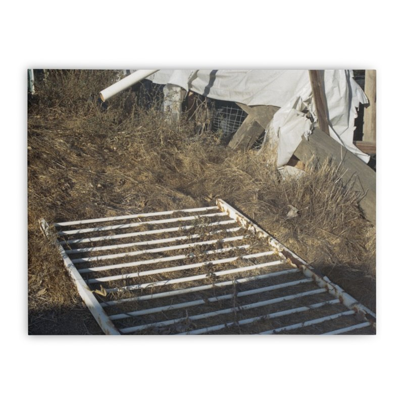 Discards in the Weeds Home Stretched Canvas by zoegleitsman's Artist Shop