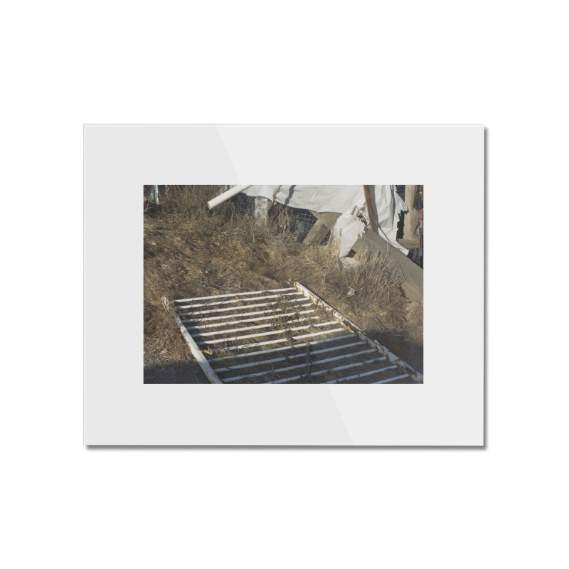 Discards in the Weeds Home Mounted Acrylic Print by zoegleitsman's Artist Shop
