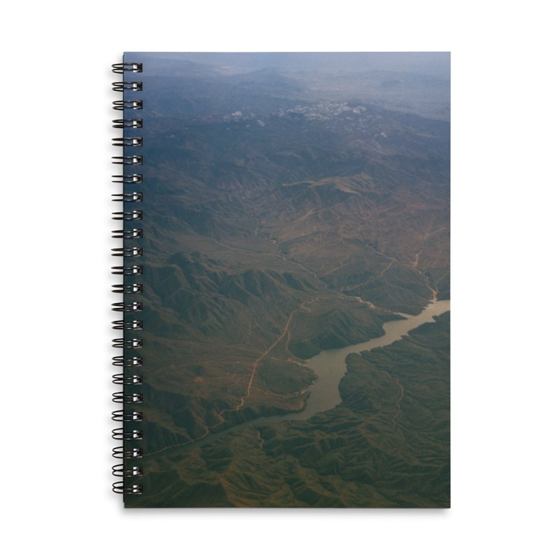 Mountainscape From the Plane Accessories Notebook by zoegleitsman's Artist Shop
