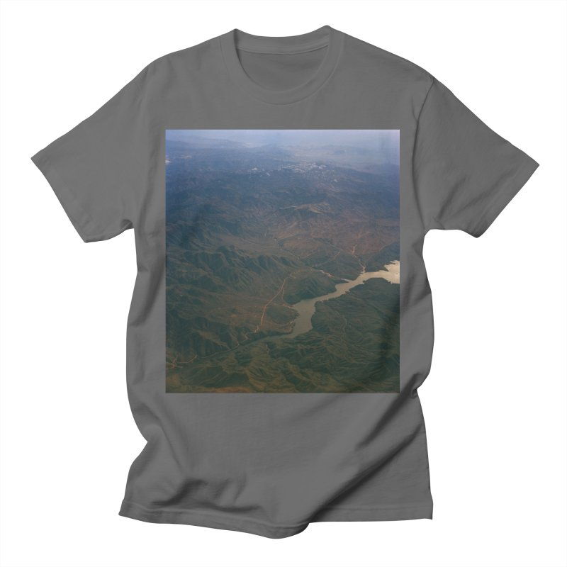 Mountainscape From the Plane Men's T-Shirt by zoegleitsman's Artist Shop