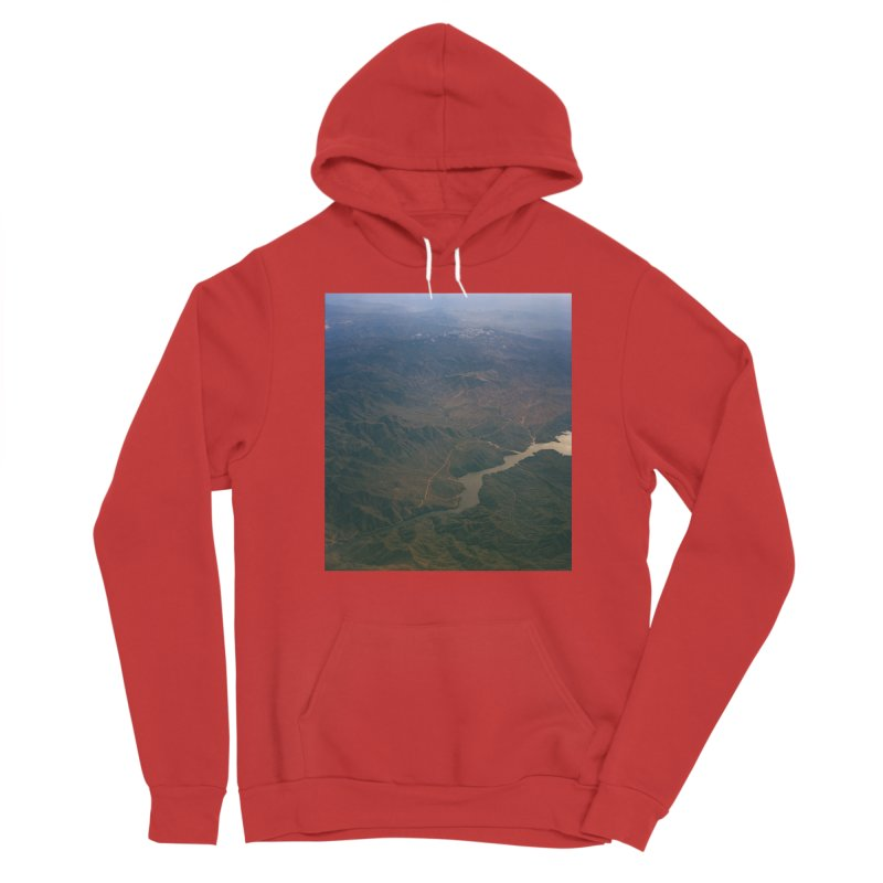 Mountainscape From the Plane Women's Pullover Hoody by zoegleitsman's Artist Shop