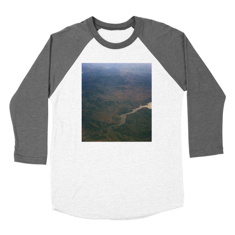 Mountainscape From the Plane Women's Longsleeve T-Shirt by zoegleitsman's Artist Shop