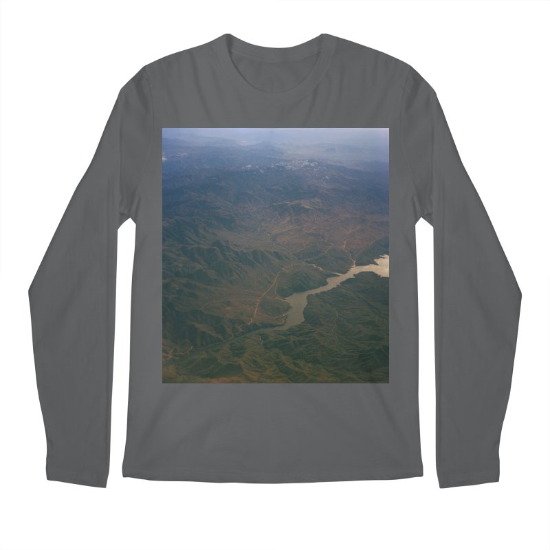 Mountainscape From the Plane Men's Longsleeve T-Shirt by zoegleitsman's Artist Shop