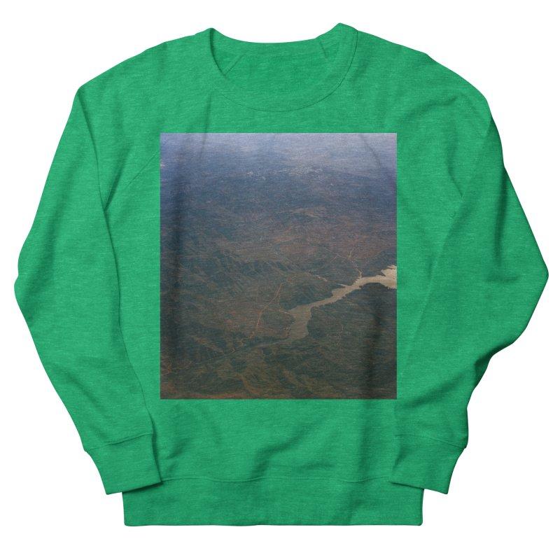 Mountainscape From the Plane Women's Sweatshirt by zoegleitsman's Artist Shop