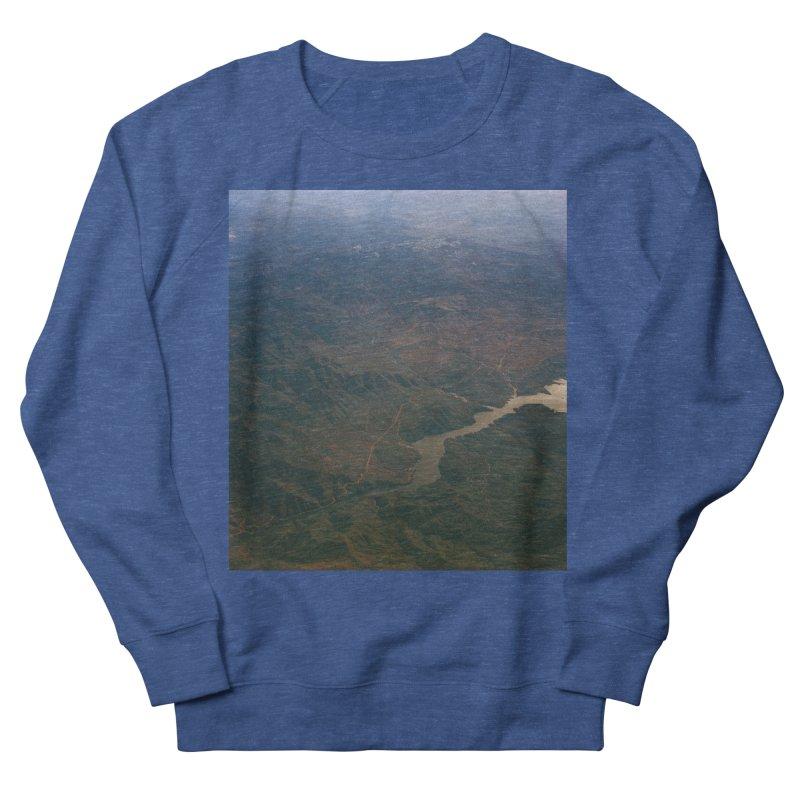 Mountainscape From the Plane Men's Sweatshirt by zoegleitsman's Artist Shop