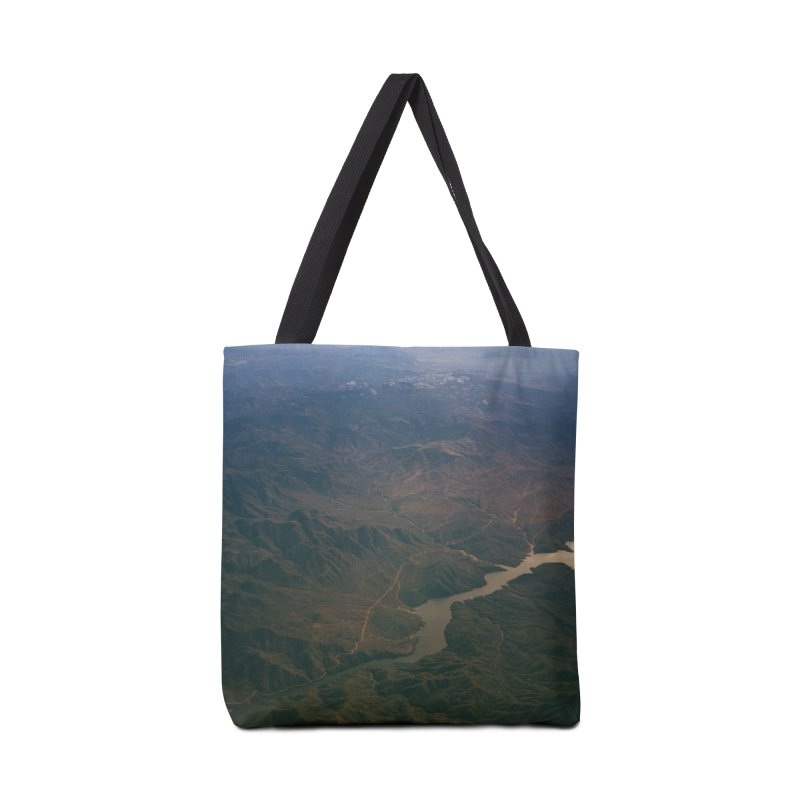 Mountainscape From the Plane Accessories Bag by zoegleitsman's Artist Shop