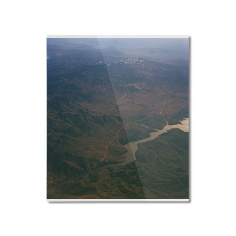 Mountainscape From the Plane Home Mounted Aluminum Print by zoegleitsman's Artist Shop