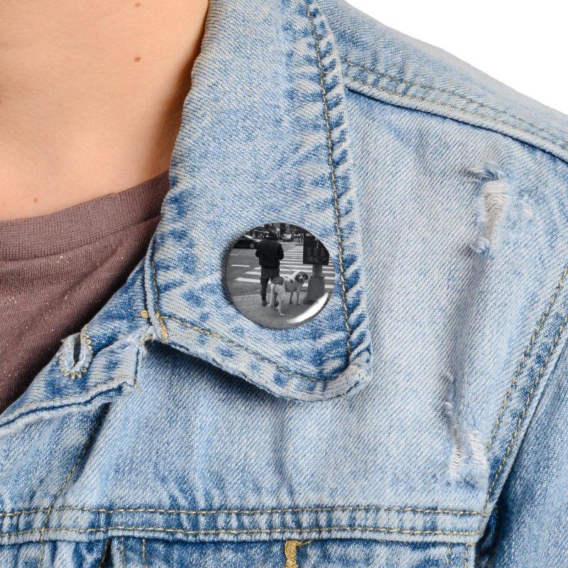 Dog Walk Accessories Button by zoegleitsman's Artist Shop