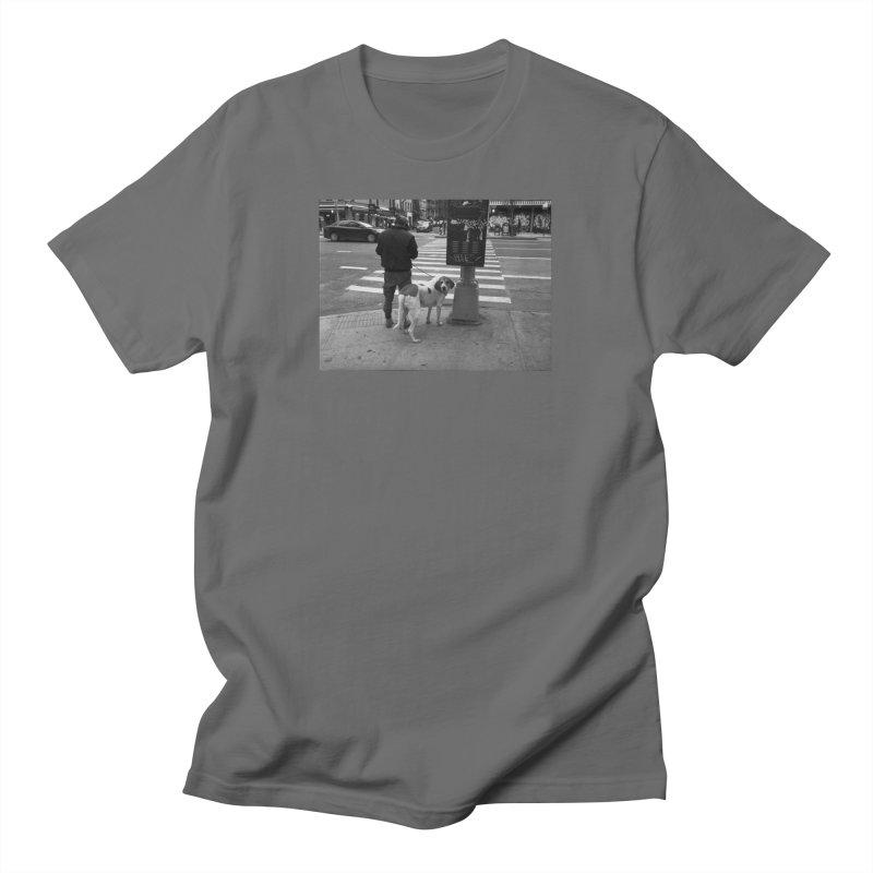 Dog Walk Men's T-Shirt by zoegleitsman's Artist Shop