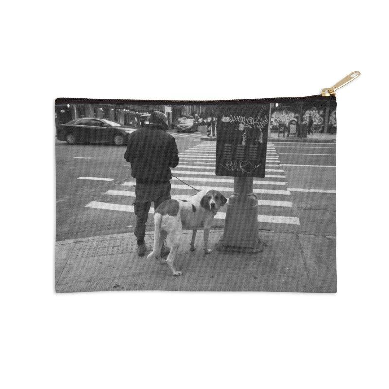 Dog Walk Accessories Zip Pouch by zoegleitsman's Artist Shop