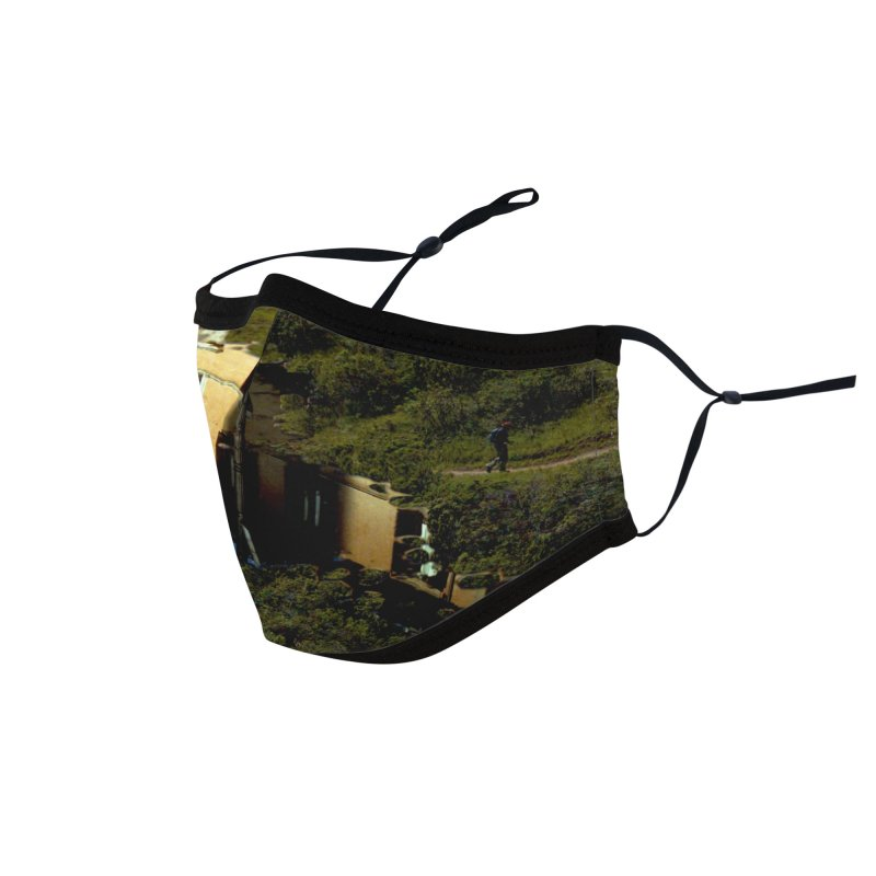 Puddle in a Mountain (Collage#1) Accessories Face Mask by zoegleitsman's Artist Shop
