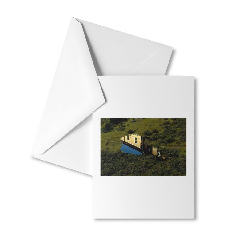 Puddle in a Mountain (Collage#1) Accessories Greeting Card by zoegleitsman's Artist Shop