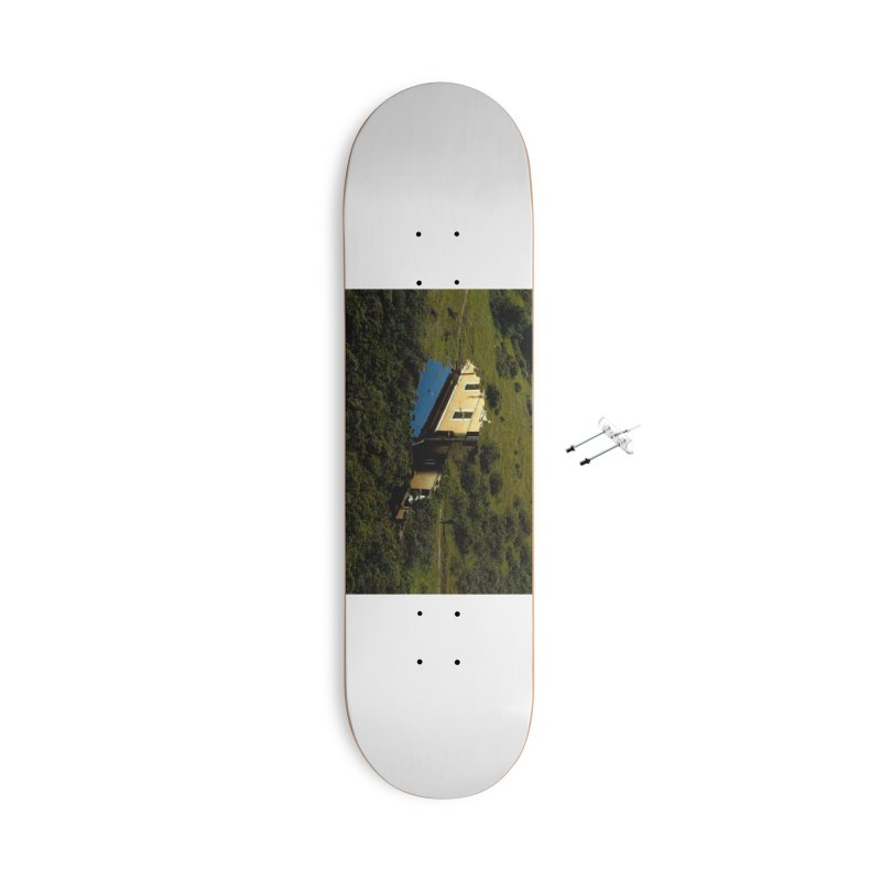 Puddle in a Mountain (Collage#1) Accessories Skateboard by zoegleitsman's Artist Shop
