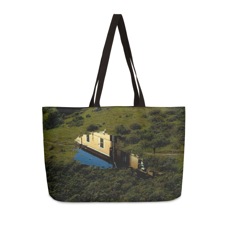 Puddle in a Mountain (Collage#1) Accessories Bag by zoegleitsman's Artist Shop
