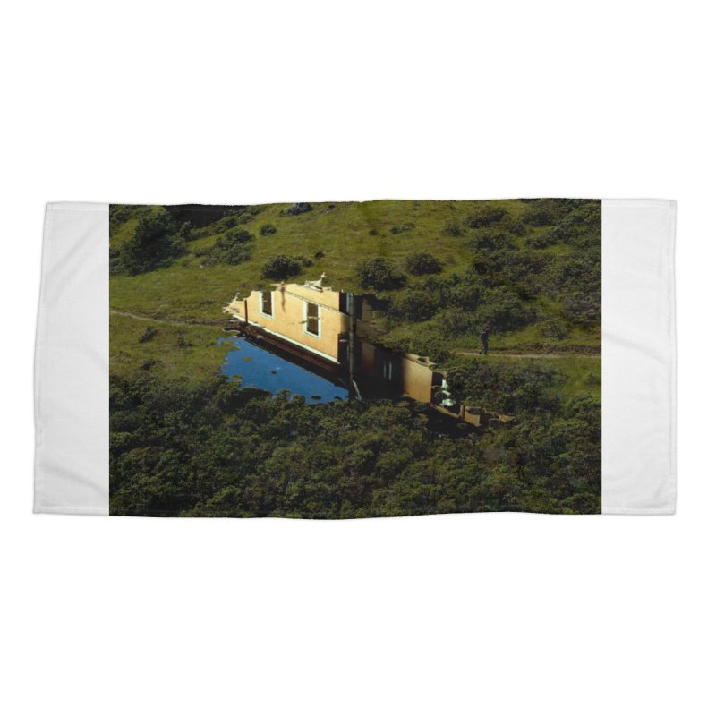 Puddle in a Mountain (Collage#1) Accessories Beach Towel by zoegleitsman's Artist Shop