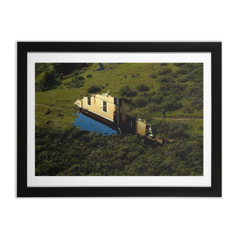Puddle in a Mountain (Collage#1) Home Framed Fine Art Print by zoegleitsman's Artist Shop
