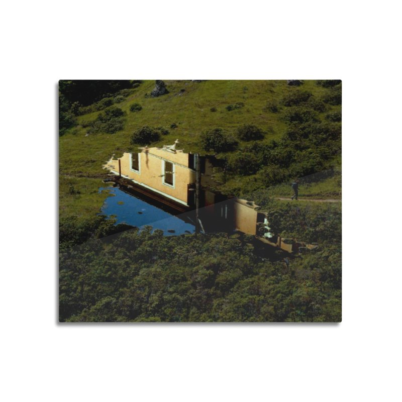 Puddle in a Mountain (Collage#1) Home Mounted Aluminum Print by zoegleitsman's Artist Shop
